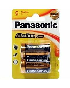 Panasonic bronze pila alkalina c lr14 blister*2