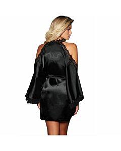 Queen lingerie robe negro