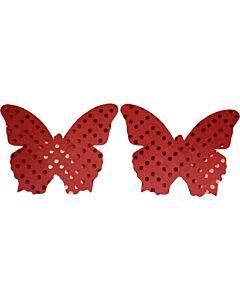 Caramel nuit - tetinas borboleta vermelha brilhante