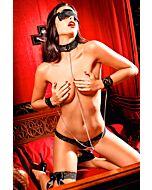 conjunto Baci do laço preto amor escravo