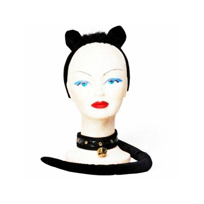 gatinho preto sexy em setembro (3 peças)