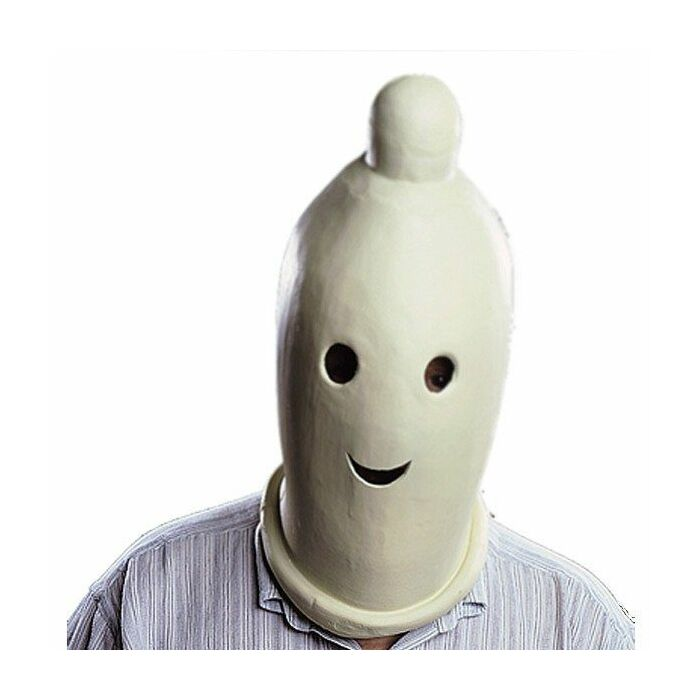 máscara de látex do preservativo