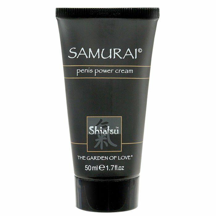 Shiatsu samurai creme ereção potenciador