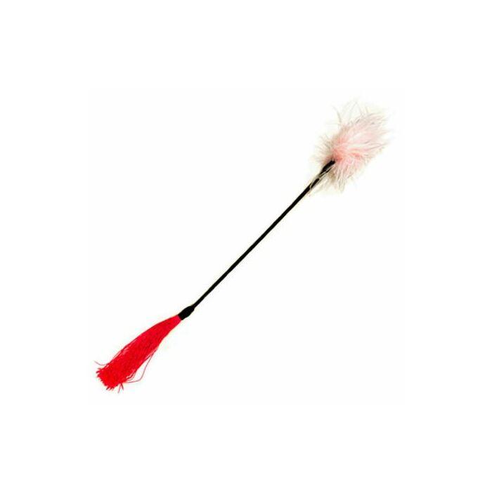 Whipper revolvimento pena chicote + rosa branca